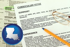 louisiana a curriculum vitae and job resume