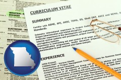 missouri a curriculum vitae and job resume