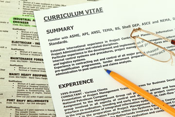 a curriculum vitae and job resume